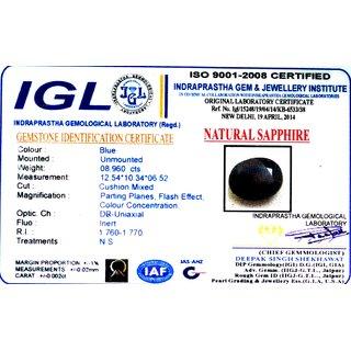 8.960 Ct Blue Sapphire/Neelam Natural Gemstone(Sri Lanka )With Certified Report