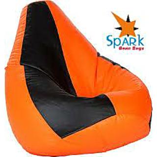 Spark Bean Bags XXL Black & Orange Bean Bag Cover