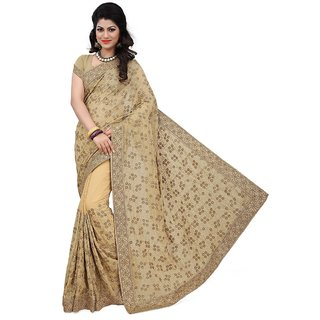 RG Designers Multicolor Chiffon Embroidered Saree With Blouse