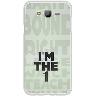 ifasho I am the one good quote on confidence Back Case Cover for Samsung Galaxy On 5
