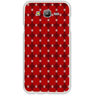 ifasho Design Clourful red and white Circle Pattern Back Case Cover for Samsung Galaxy On 7