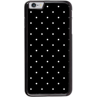 Ayaashii White Dots In Black Background Back Case Cover for Apple iPhone 6