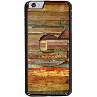 Ayaashii Letter G In Wood Pattern Back Case Cover for Apple iPhone 6