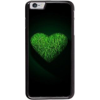 Ayaashii Green Colored Heart Back Case Cover for Apple iPhone 6