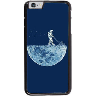 Ayaashii Astronauts Cleaning Moon Back Case Cover for Apple iPhone 6