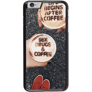 Ayaashii Life Begins After Coffee Back Case Cover for Apple iPhone 6