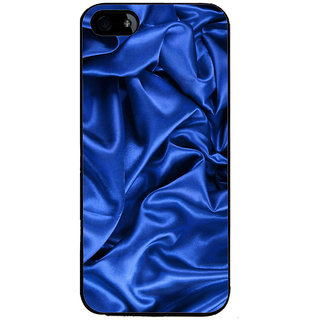 Ayaashii Blue Slik Cloth Back Case Cover for Apple iPhone 5::Apple iPhone 5S