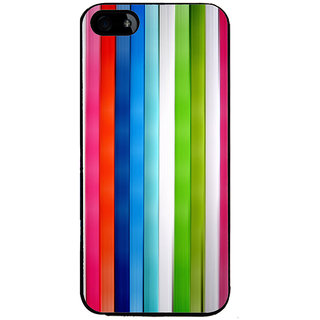 Ayaashii Color Stripes Back Case Cover for Apple iPhone 5::Apple iPhone 5S