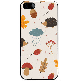 Ayaashii Raining Cloud Pattern Back Case Cover for Apple iPhone 5::Apple iPhone 5S