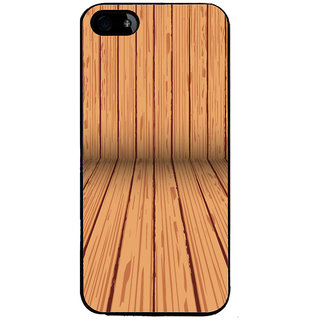 Ayaashii Wooden Stripes Back Case Cover for Apple iPhone 5::Apple iPhone 5S