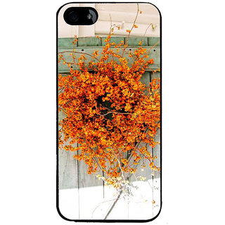Ayaashii Yellow Flower Pot Back Case Cover for Apple iPhone 5::Apple iPhone 5S