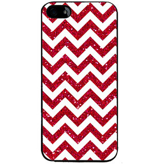 Ayaashii Horizontal Zigzag Pattern Back Case Cover for Apple iPhone 5::Apple iPhone 5S