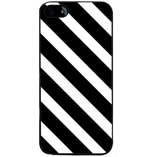 Ayaashii Black Cross Stripes Back Case Cover for Apple iPhone 5::Apple iPhone 5S
