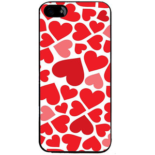 Ayaashii Red Hearts Back Case Cover for Apple iPhone 5::Apple iPhone 5S