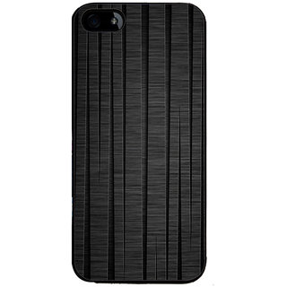 Ayaashii Black Wooden Back Case Cover for Apple iPhone 5::Apple iPhone 5S