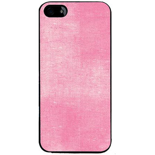 Ayaashii Pink Cloth Back Case Cover for Apple iPhone 5::Apple iPhone 5S