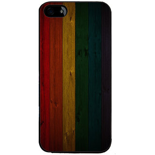 Ayaashii Colorful Wooden Pattern Back Case Cover for Apple iPhone 5::Apple iPhone 5S