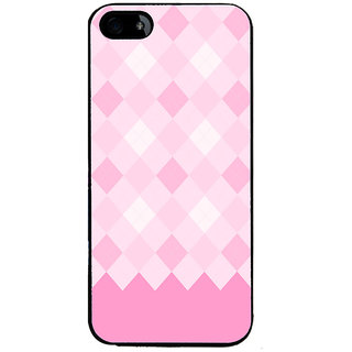 Ayaashii Pink Diamond Pattern Back Case Cover for Apple iPhone 5::Apple iPhone 5S