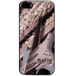 Ayaashii Guitar On Track Back Case Cover for Apple iPhone 5::Apple iPhone 5S