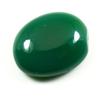 11 Ratti 10.9 Carat Loose Natural Green Onyx Gemstone For Astrological Purpose
