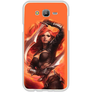 ifasho Girl with blade animated Back Case Cover for Samsung Galaxy On 7