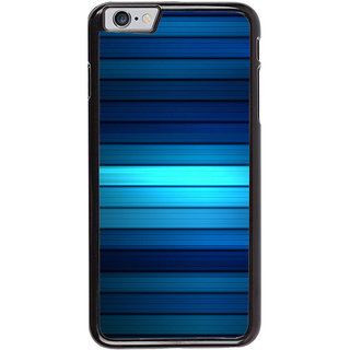 Ayaashii Blue Lines Pattern Back Case Cover for Apple iPhone 6S