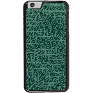 Ayaashii Lines Pattern In Blue Background Back Case Cover for Apple iPhone 6S