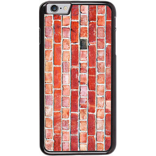 Ayaashii Brown Bricks Pattern Back Case Cover for Apple iPhone 6S