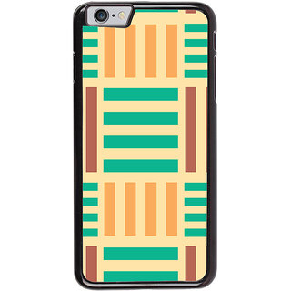 Ayaashii Horizontal Vertical Stripes Back Case Cover for Apple iPhone 6S