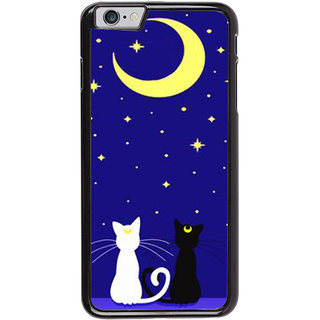 Ayaashii Two Cats With Moon Back Case Cover for Apple iPhone 6