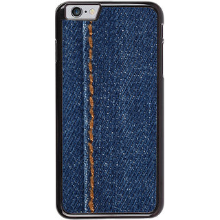 Ayaashii Jeans Cloth With Stich Back Case Cover for Apple iPhone 6S