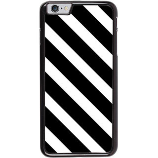 Ayaashii Black Cross Stripes Back Case Cover for Apple iPhone 6