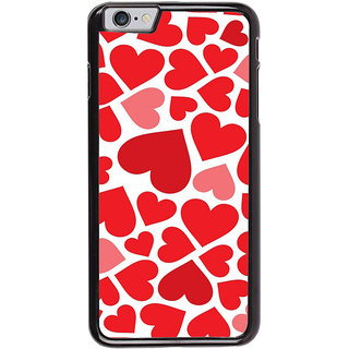 Ayaashii Red Hearts Back Case Cover for Apple iPhone 6