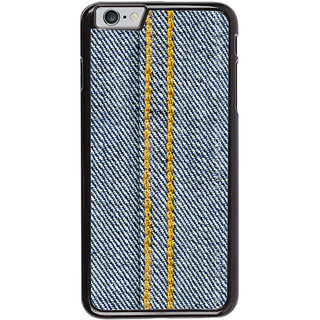 Ayaashii Jeans Cloth With Stich Back Case Cover for Apple iPhone 6