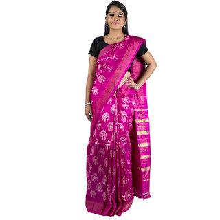 Sri Pink Zari Ikkat Saree