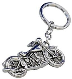 Skycandle Bullet Key Chain With Silver Metal Finish For