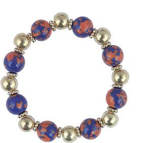 Pearlz Ocean Designer Round Shaped Mosaic Beads Stretchable Bracelet