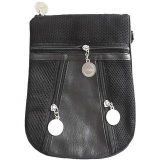 Living Creation Fashion Black Sling Bag