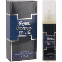 Shama Midnight Blue Series Alcohol Free, Undiluted Perfume For Men , 60 Ml Bottle - (Brand Outlet)