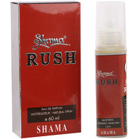 Shama Rush Series Alcohol Free, Undiluted Perfume For Men , 60 Ml Bottle - (Brand Outlet)