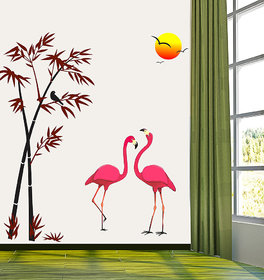 Pack Of 1 New way PVC Multicolor Decals-Wall Sticker (7572) ''Natural Scenario With The Crane''