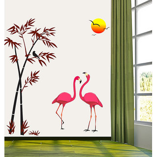 New Way Decals-Wall Sticker (7572) ''Natural Scenario With The Crane''