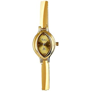 Rochees Oval Dial Gold Analog Watch For Women