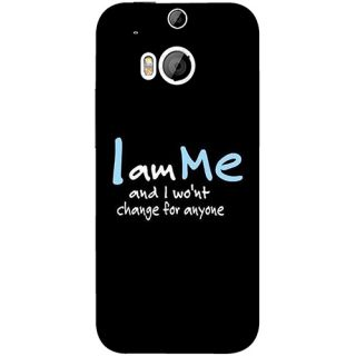 Casotec Quotes Design 3D Printed Hard Back Case Cover for HTC One M8