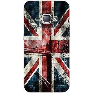Casotec London Flag wallpaper Design 3D Printed Hard Back Case Cover for Samsung Galaxy J1 (2015)