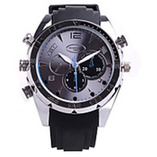 HD 1080P Waterproof Night Vision Auto Open Watch Camera with TF Card Slot