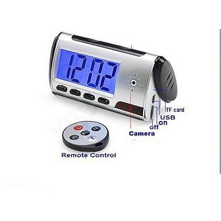 1.3 mega pixels Digital Spy Camera Alarm Clock with Remote Control / Motion Detection, High quality With retail box