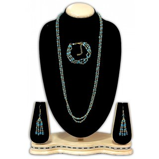 Urban Trendz  Beaded Necklace set with earrings  Bracelet UT10177