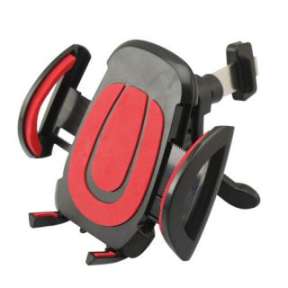 Cushioned Expandaple Mobile Phone Holder.(Black and Red)