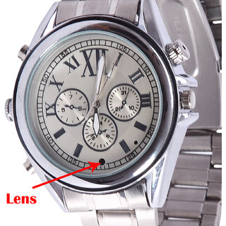 M MHB Leather Wrist Watch Camera Inbuild 16GB memory. Hidden audio /video Recording.While recording no light Flashes.Original brand Only Sold by M MHB